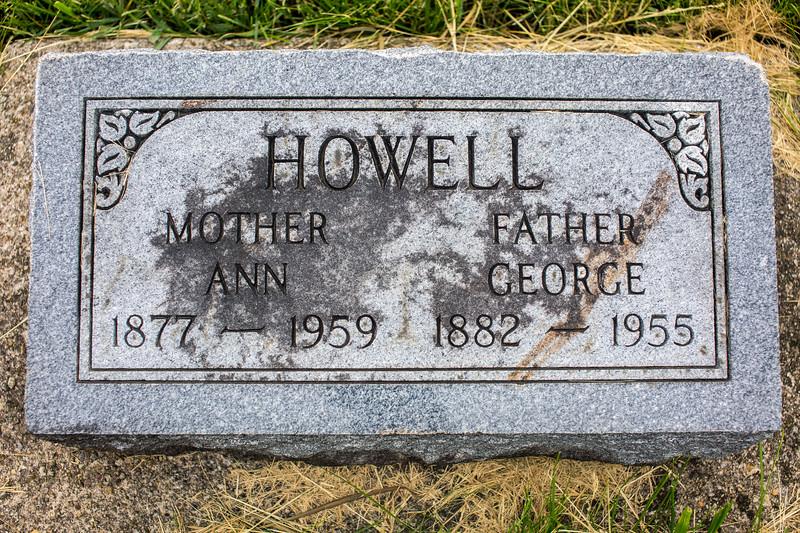 Howell Gravestones. George & Ann Howell.