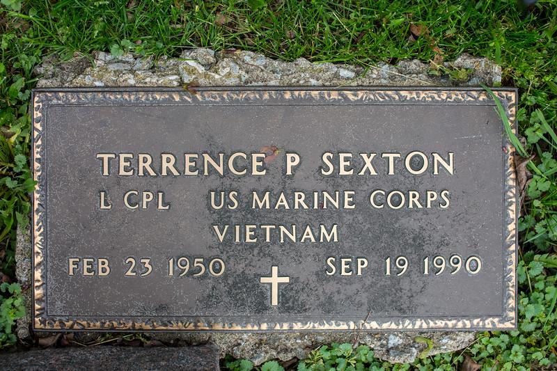 Gravestones. Terrence P. Sexton.