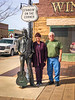Mom & Dad standing on a corner in Winslow, AZ