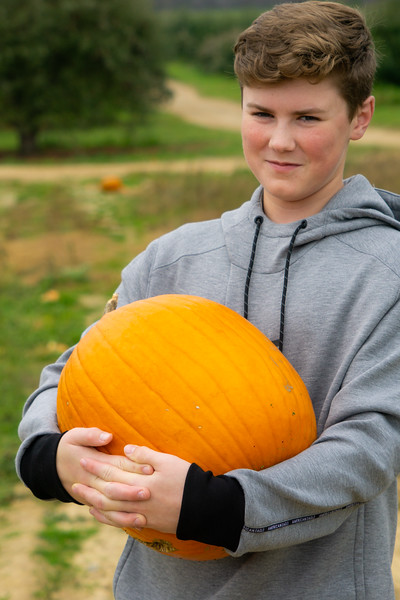 Close up of Jack and the Big Pumpkin