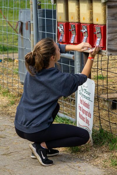 Ella at Petting Zoo