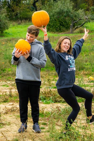 Jack and Ella and Pumpkins-Funny