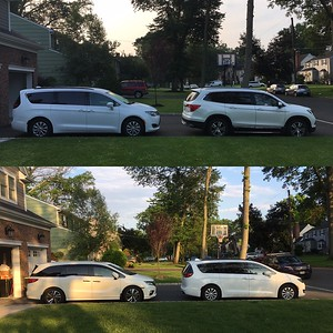 Aric had Honda Pilot (top) but finally bought a minivan as I suggested (bottom)