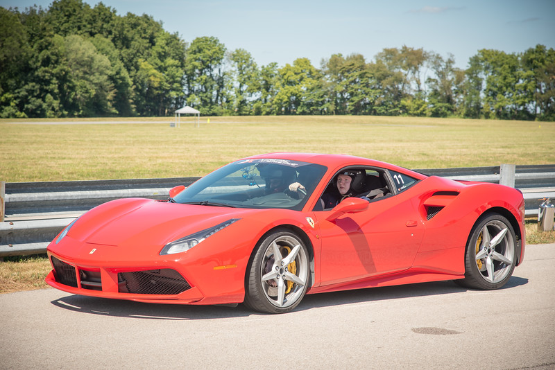 Putnam Park, Indiana - Connor's birthday visit to Xtreme Xperience to drive super cars on August 9, 2019. Connor in a Ferrari 488.