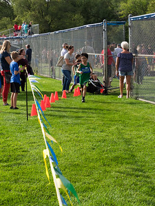 Nolan in the home stretch, 6th grade cross country meet