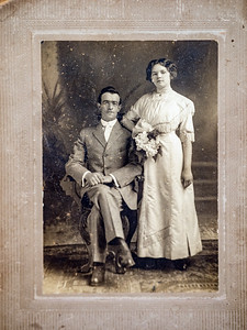 """William Bertie Howell & Grace Long Wedding, January 31, 1912. """"Billie"""" died 10 years, 2 months later on March 24, 1922."""