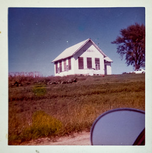 One room schoolhouse in Scott County. (Long Grove, IA) Howell Children attended via pony cart.