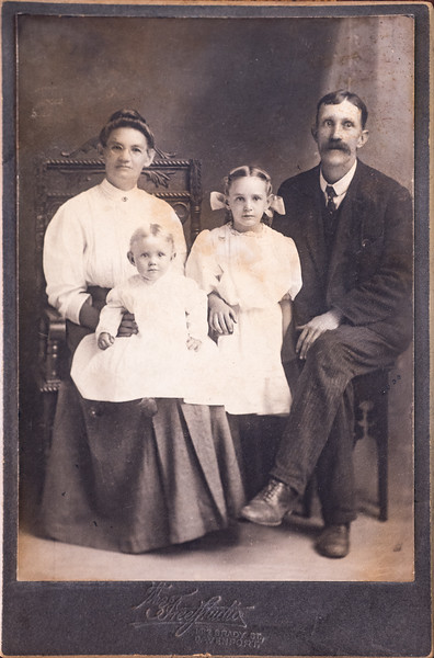 Grace Long's Mother Dora Buhman, Frank Green, Edna and Florence Green.