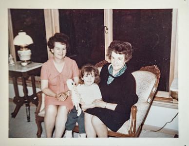 Alice Shaw, Eve Adair, and Edith Howell Adair,1967.