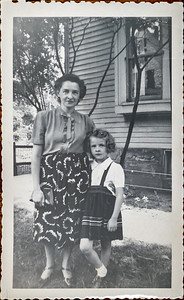 Edith & Robin Adair. 8104 Halle Ave, Cleaveland, OH. 1951.