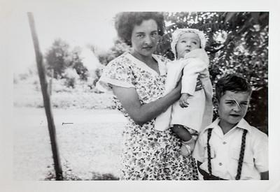 Edith, Robin & Bill Adair. 1945.