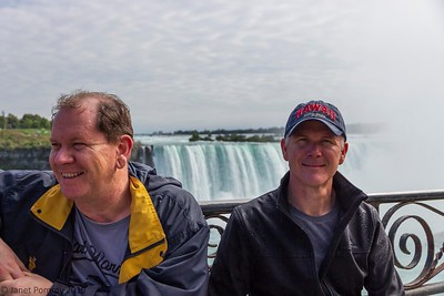 David and Richard at the falls