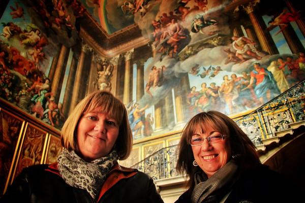 Liz and Carol at Hampton Court Palace (2014)