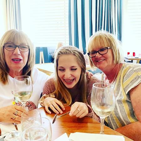 Carol, Jordyn and Liz at Tony Macaroni Largs (2019)
