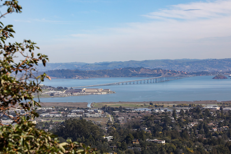 East Bay from Blithedale Ridge Fire Rd,  2/21/20