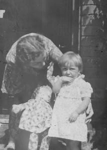 DPB-75: May (Maisie) McKeown and Babara Gorman at 203 Cupar Street  circa 1938