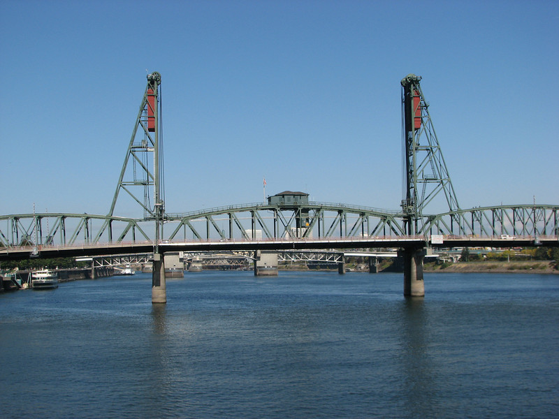 Draw bridge with obvious counterweights.