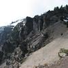 Detail of the caldera rim.