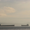 The tankers again.  Empty I'm guessing.  I like the way the horizon echoes their shapes.