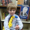 First grade presented a Wax Museum for the presidents of the United States, Sebastian was Bill Clinton