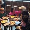 Bumping into Amala, Sagar, Sachi, and Sanvi for breakfast at PCC!