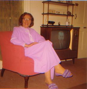 Kay-159: May (Maisie) McKeown at 320 West Main Strret Boonton NJ USA (President Richard Nixon on TV)