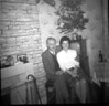 Tom and Rhoda Lowe at 325 Burnley Rd abt 1960 pre Old Echo B and W TV in corner Martha Fisher's stick on Fireguard