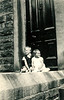 George William Haworth  18 7 1943 and Maureen Fisher 28 9 1946 outside 325 Burnley Rd abt 1947