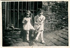 Maureen Fisher 28 9 1946 and Barbara Kerr bottom of back East St abt 1949