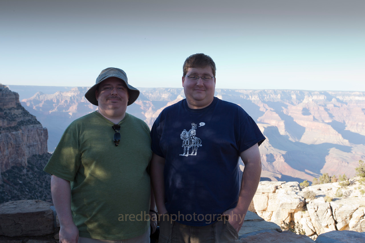Grand Canyon Nat PK,Tim and Evan.