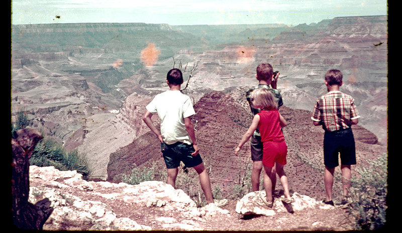Grand Canyon,some of the side pictures my dad or my brother Jim took 45 years ago ,They didn't survive all the moves and storage well.