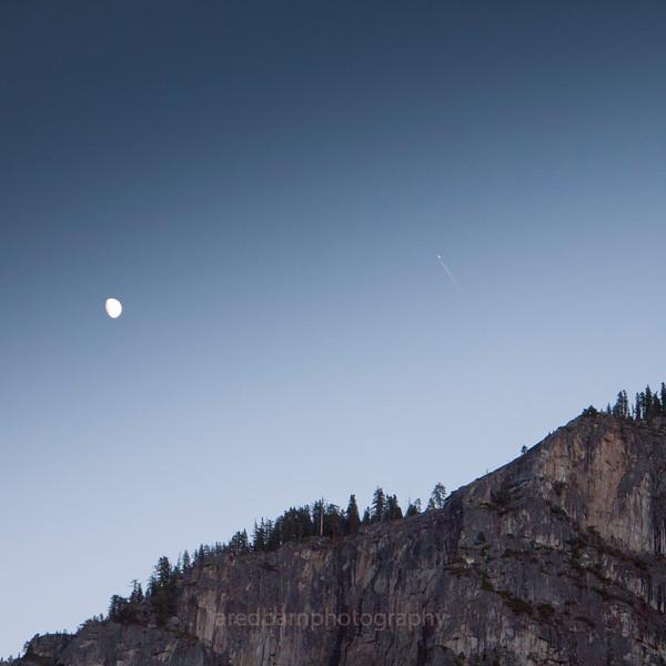 Yosemite at dusk.