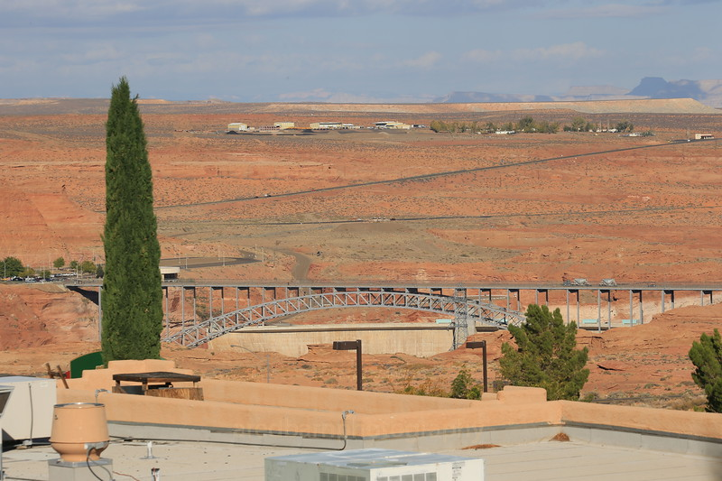 Glen Canyon Dam,from room.