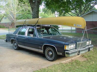 Canoe on top of car 2