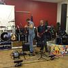 Nick Shaw and Kent at soundcheck