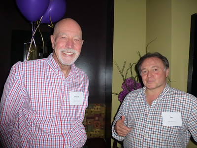 Guests at the Birthday Party: Richard with Geoff's brother Ric