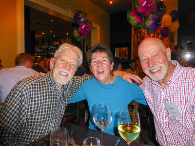 Guests at the Birthday Party: Richard Rockwell, Mary Pat, and Richard Leadbetter