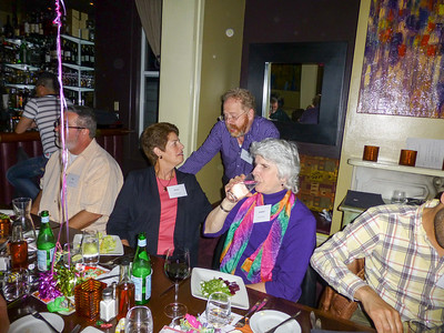 Guests at the Birthday Party: Diane, Geoff, and Kathleen