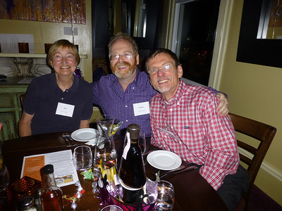 Guests at the Birthday Party: Kim, Geoff, and Galen