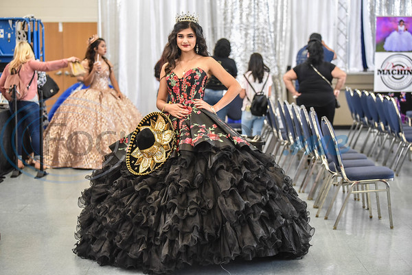 Karime Ramirez, 16, smiles for a photo before taking the stage for a fashion show at the XV Quinceanera Expo on Sunday, June 2. The Expo was the first in Tyler and also included vendors, professional dance performances and make-up demonstrations. (Jessica T. Payne/Tyler Morning Telegraph)