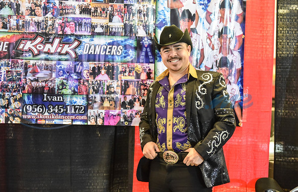 Professional dancer Ivan De Leon of Ikonik dance groups smiles for a photo before taking the stage for a dance performance at the XV Quinceanera Expo 2019 on Sunday, June 2. The event was held at Harvey Hall Convention Center and included a fashion show, professional dance performances, vendors and photo booth. (Jessica T. Payne/Tyler Morning Telegraph)