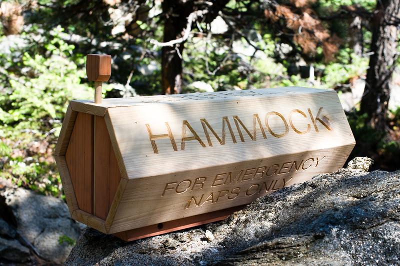 Emergency Hammock storage