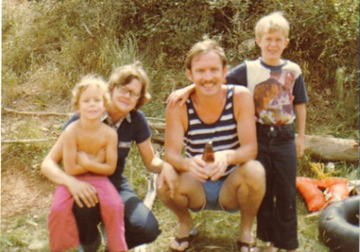 My uncle Tom, wife Penny, Travis and ??