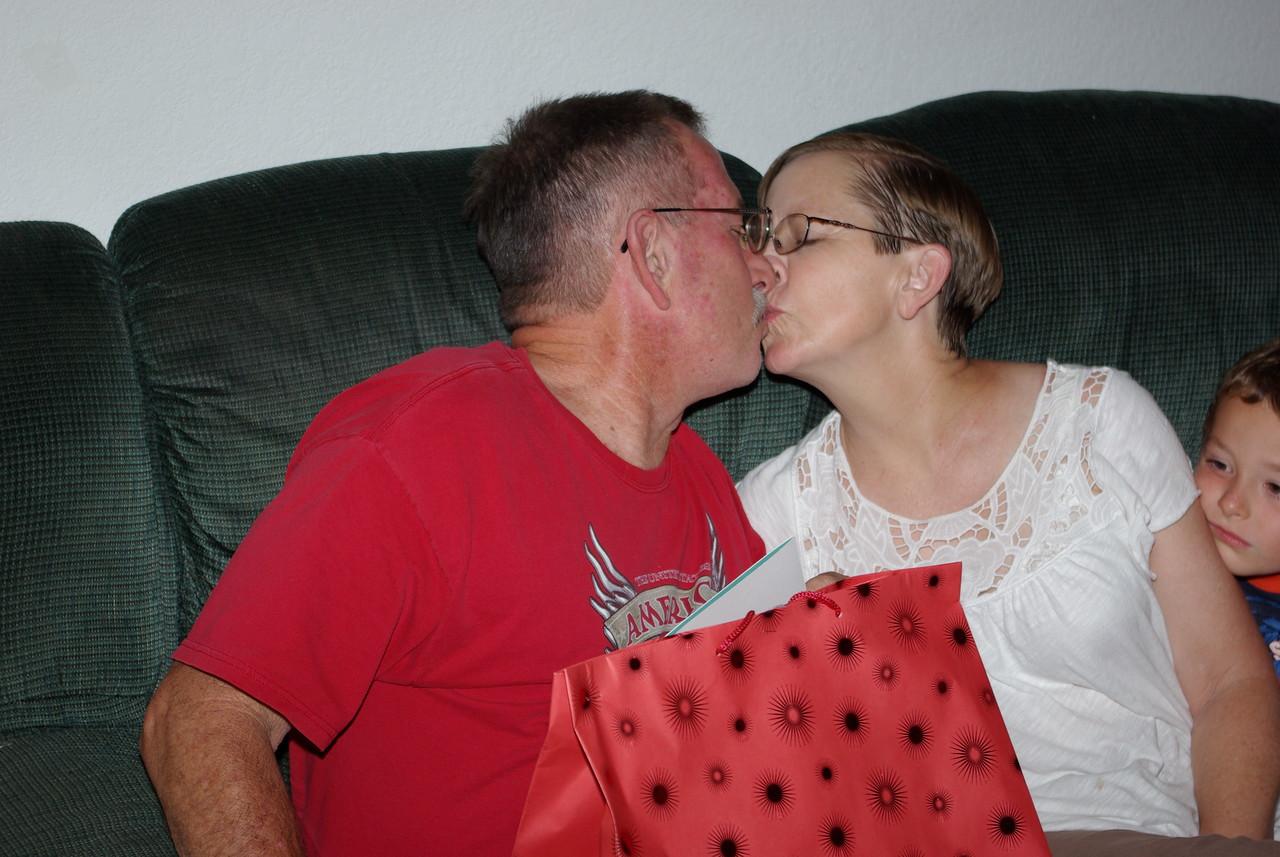 Dad & Mom Smooch'n 7-26-2009