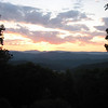 Sunset shot from the Confederate Breastworks overlook along Rte. 250.