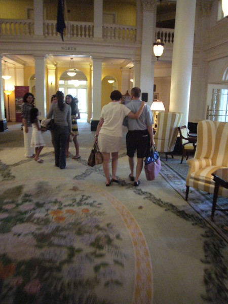 in lobby