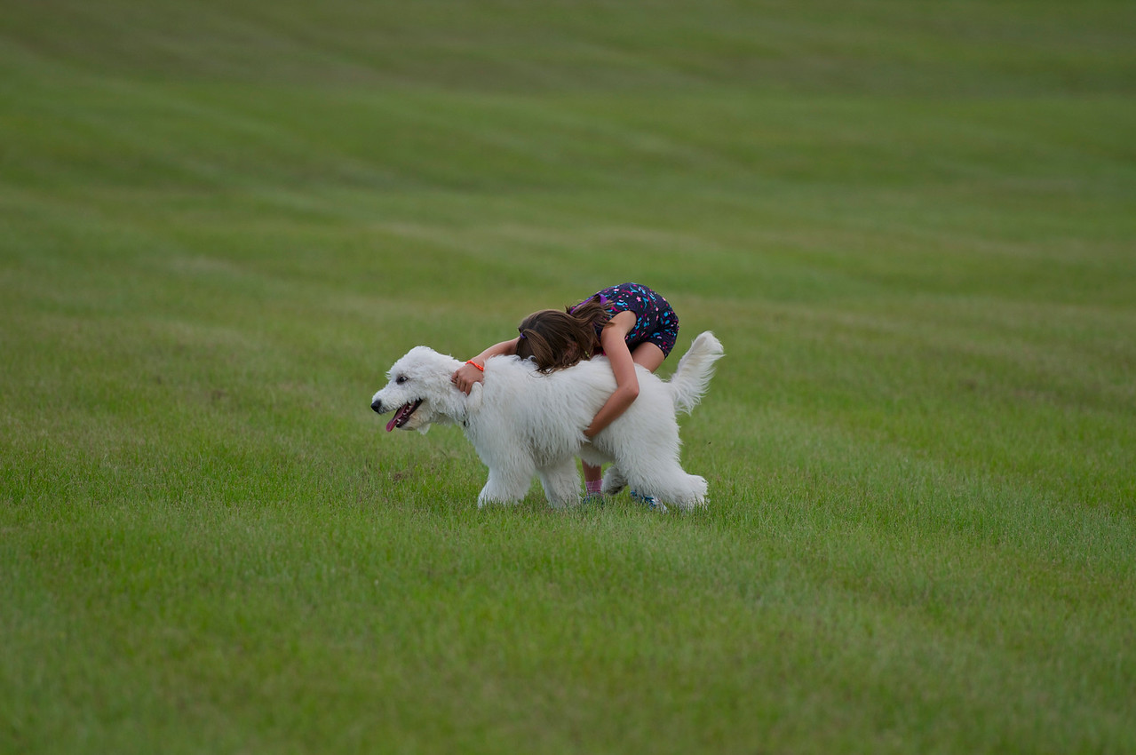 believe it or not, Lizzie will tire of running before Caitlin