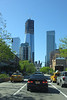 Here in New York, on the West Side Highway, the new 1 World Trade Center building dominates the skyline.