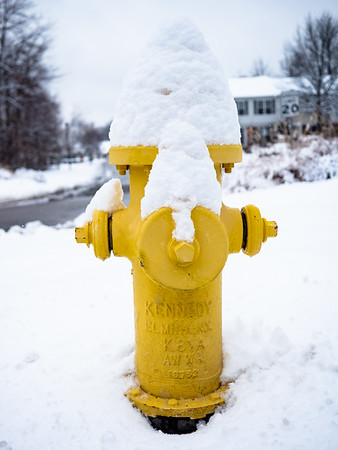 Snow-covered pump.