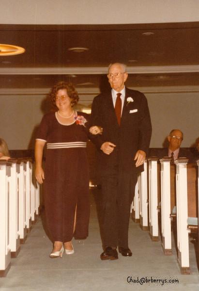 Keli and Chad's Wedding- Mom walks with Papa